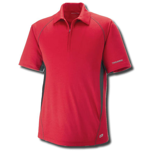 Men's Performance Zippered Polo