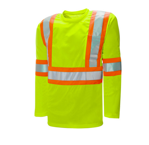 High Vis Safety Long Sleeve Shirt