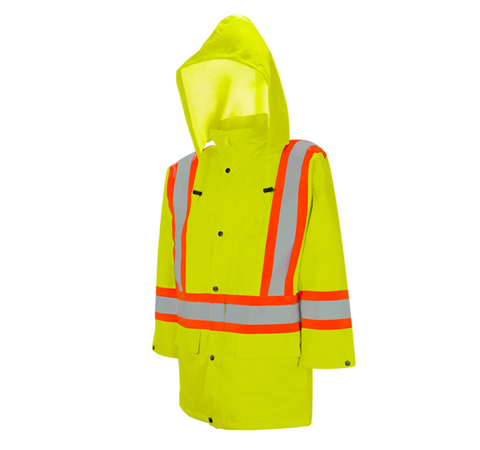High Vis Safety Rain Jacket