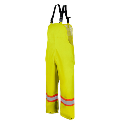 High Vis Safety Rain Overalls