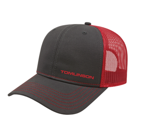 Red Mesh Back Hat