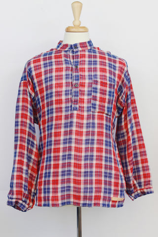 Patriotic Plaid - cotton shirt (S left)