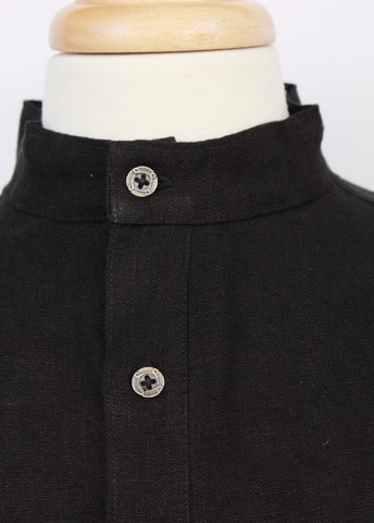 True Black - linen shirt (XL left)