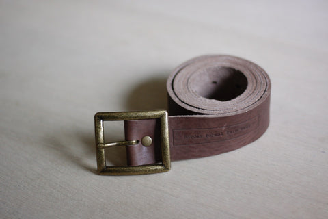 Leather Belt Square Buckle