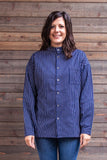 Traditional Solberg Dark Blue - cotton shirt - Button Down