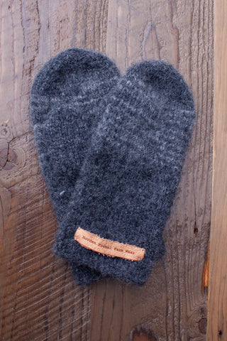 Mom's Grey Mittens - wool