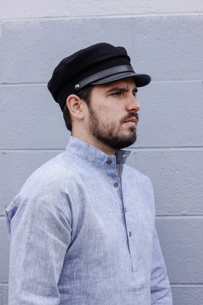 Leather Brim Cap