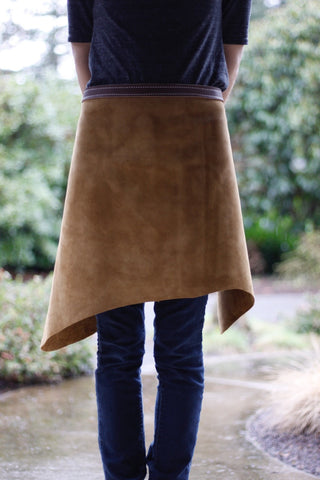 Leather Waist Apron - Live Edge