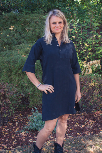 f45cfe33 Pre-Washed Linen Tunic Black – Hovden Formal Farm Wear