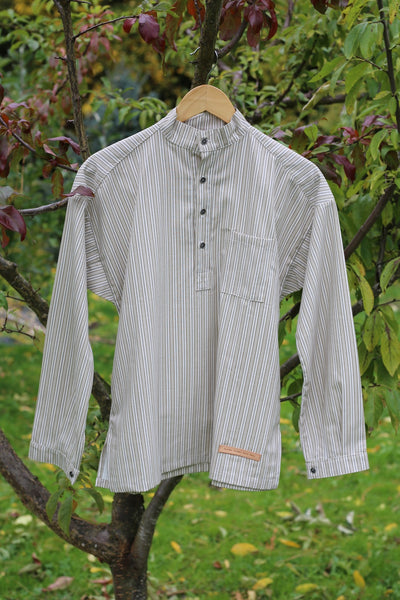Striped Green - cotton shirt
