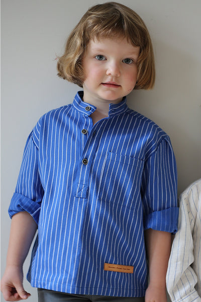 Solberg Bright Blue Kids Shirt