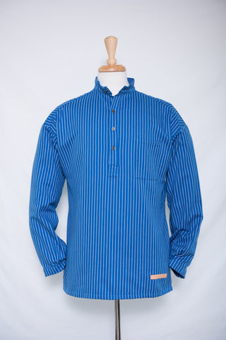 Traditional Solberg Bright Blue - cotton shirt