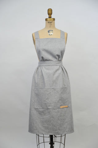 Hovden Full Apron - Chambray XL