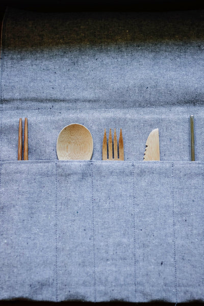 Utensil Roll - Chambray