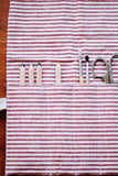 Utensil Roll - Red stripes