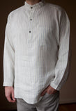 Pin-Striped - linen shirt (XS & XXL left)