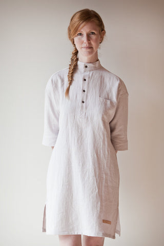 Morning Cloud - pre-washed linen tunic dress SOLD OUT