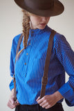 PRE-ORDER Traditional Solberg Bright Blue - cotton shirt
