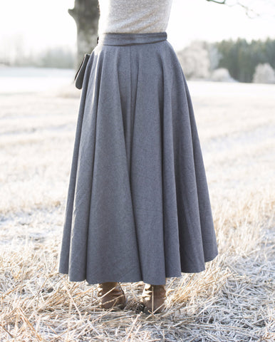 Viking Inspired Wool Skirt (Grey) PRE-ORDER