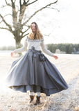 MATHILDE Viking Skirt Grey Wool