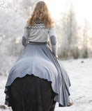 Viking Inspired Wool Skirt - Grey