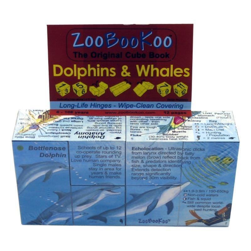 Zoobookoo Cube Book of Dolphins and Whales