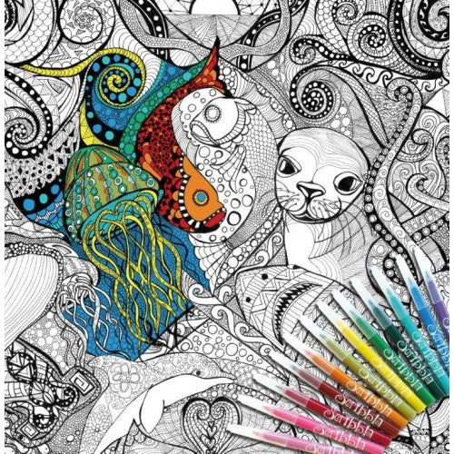 COLOUR AWAY POSTER - OCEANS DREAMING