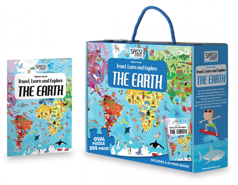 TRAVEL, LEARN AND EXPLORE - THE EARTH  PUZZLE AND BOOK