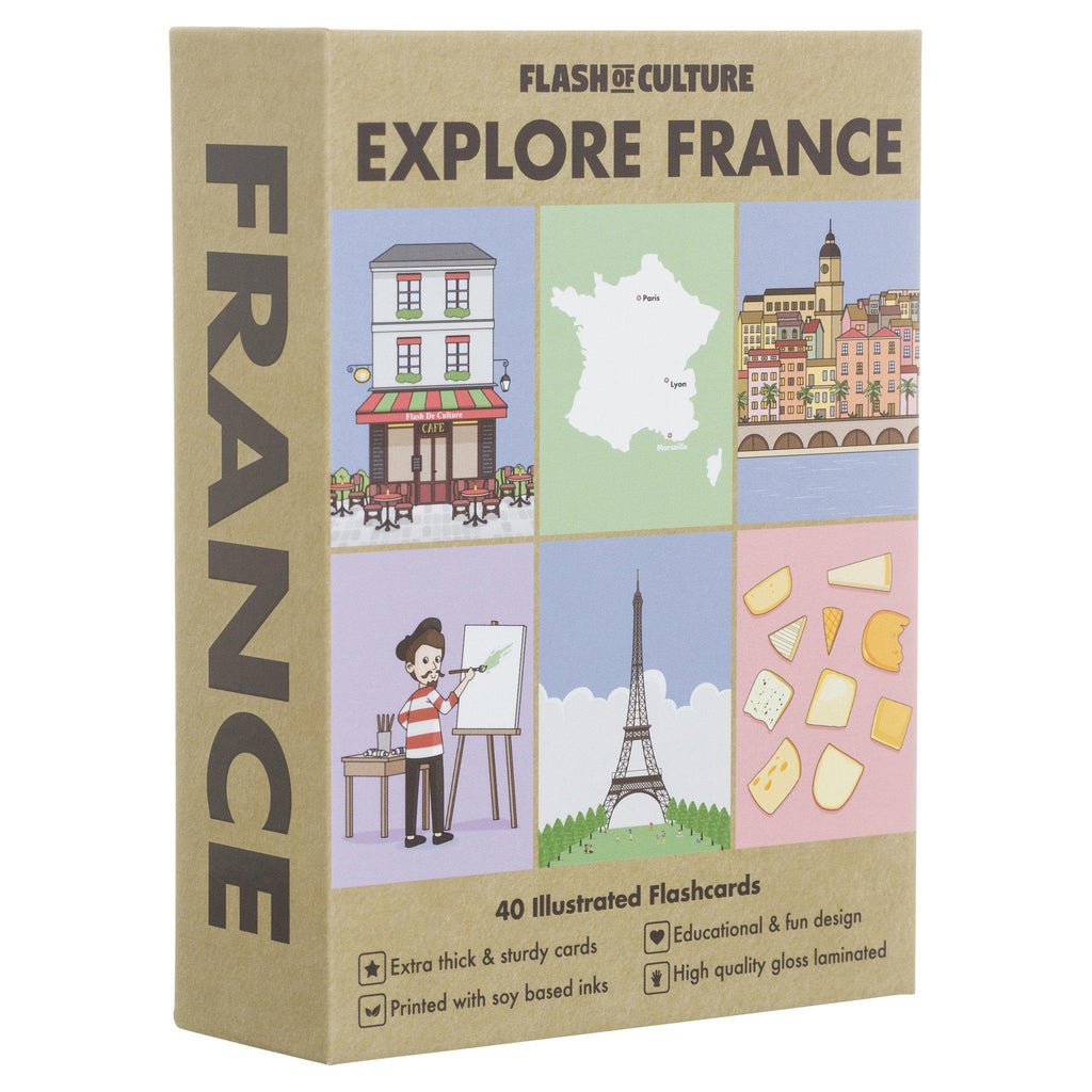 FLASH OF CULTURE - FLASH CARDS- FRANCE
