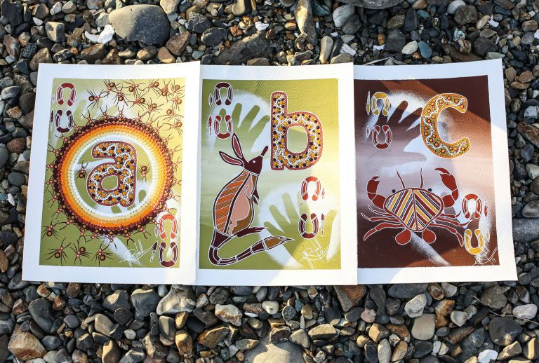 The I Am, Movement Indigenous Alphabet Flash Cards