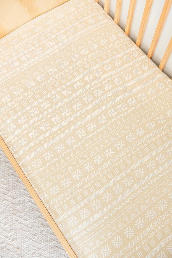 KIIN BABY - ORGANIC COTTON AND BAMBOO FITTED COT SHEET