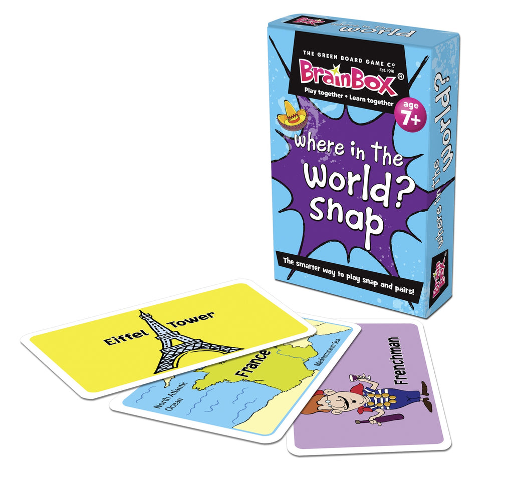GREEN BOARD GAMES- WHERE IN THE WORLD? SNAP