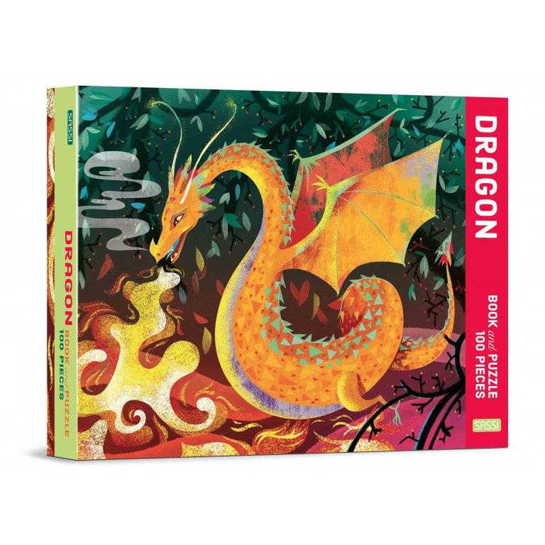 SASSI - DRAGON PUZZLE AND BOOK - 100 PCS