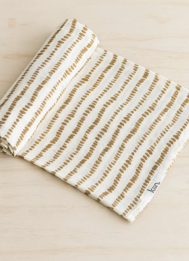 KIIN BABY - ORGANIC COTTON AND BAMBOO SWADDLE IN OCHRE