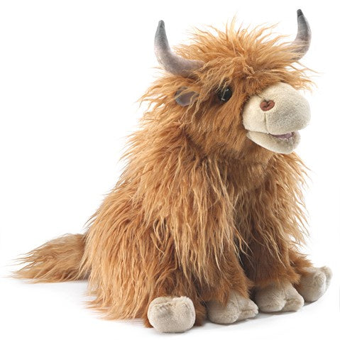 Folkmanis Highland Cow large puppet