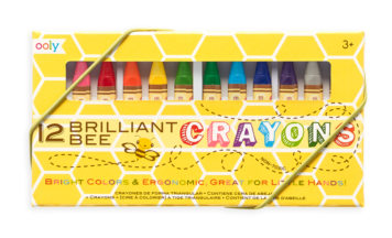 BRILLIANT BEE CRAYONS- S/12