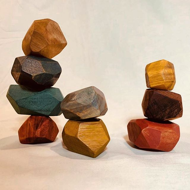 IN-WOOD - SET OF 6 STACKING STONES