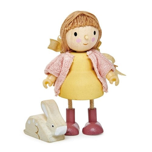 Amy Goodwood doll with flexible limbs and her rabbit