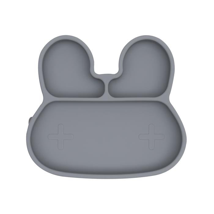 We Might Be Tiny Grey Bunny Stickie Plate