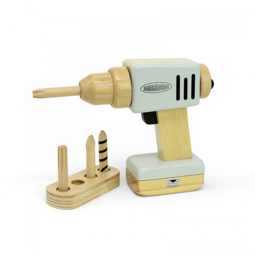 Mama Memo Kids Wooden Drill with Magnetic Accessories