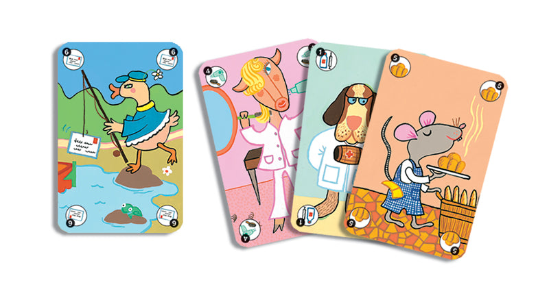Djeco Happy Family Card Game