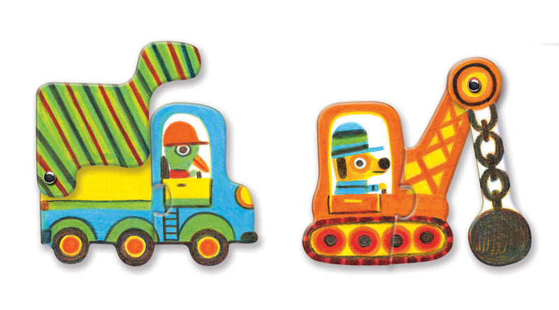 DJECO - VEHICLES DUO PUZZLE