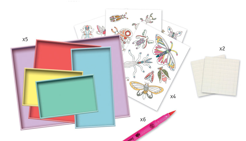 Butterflies and insects paper entomology craft set