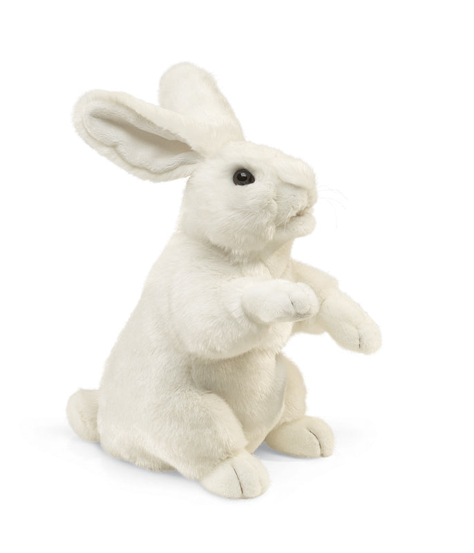 Folkmanis Standing White Rabbit Puppet