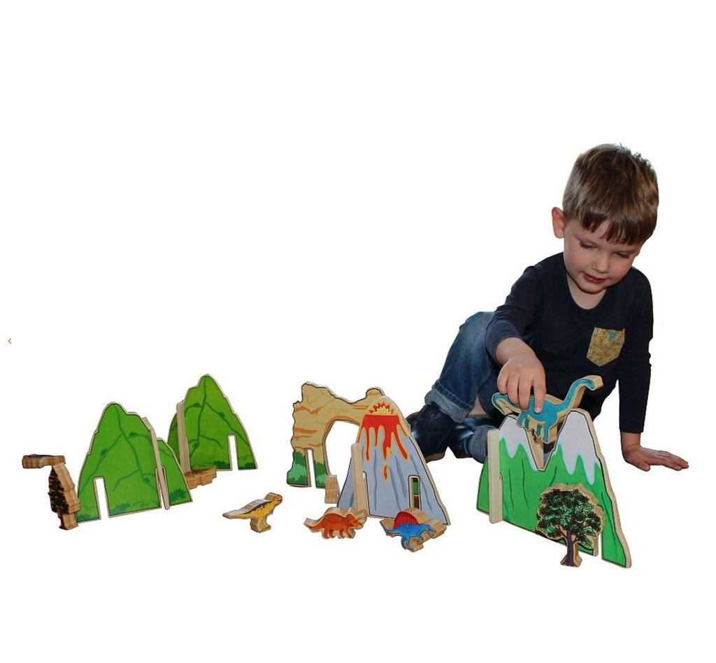 The Freckled Frog Happy Architect Dinosaurs timber set
