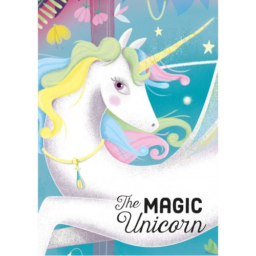 SASSI -  UNICORN BOOK AND PUZZLE - 100 PCS