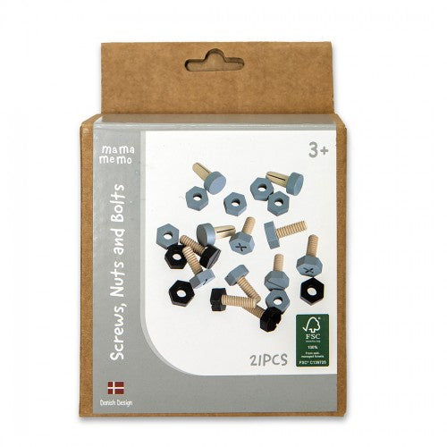 Kids Wooden Workshop Screws, Nuts & Bolts