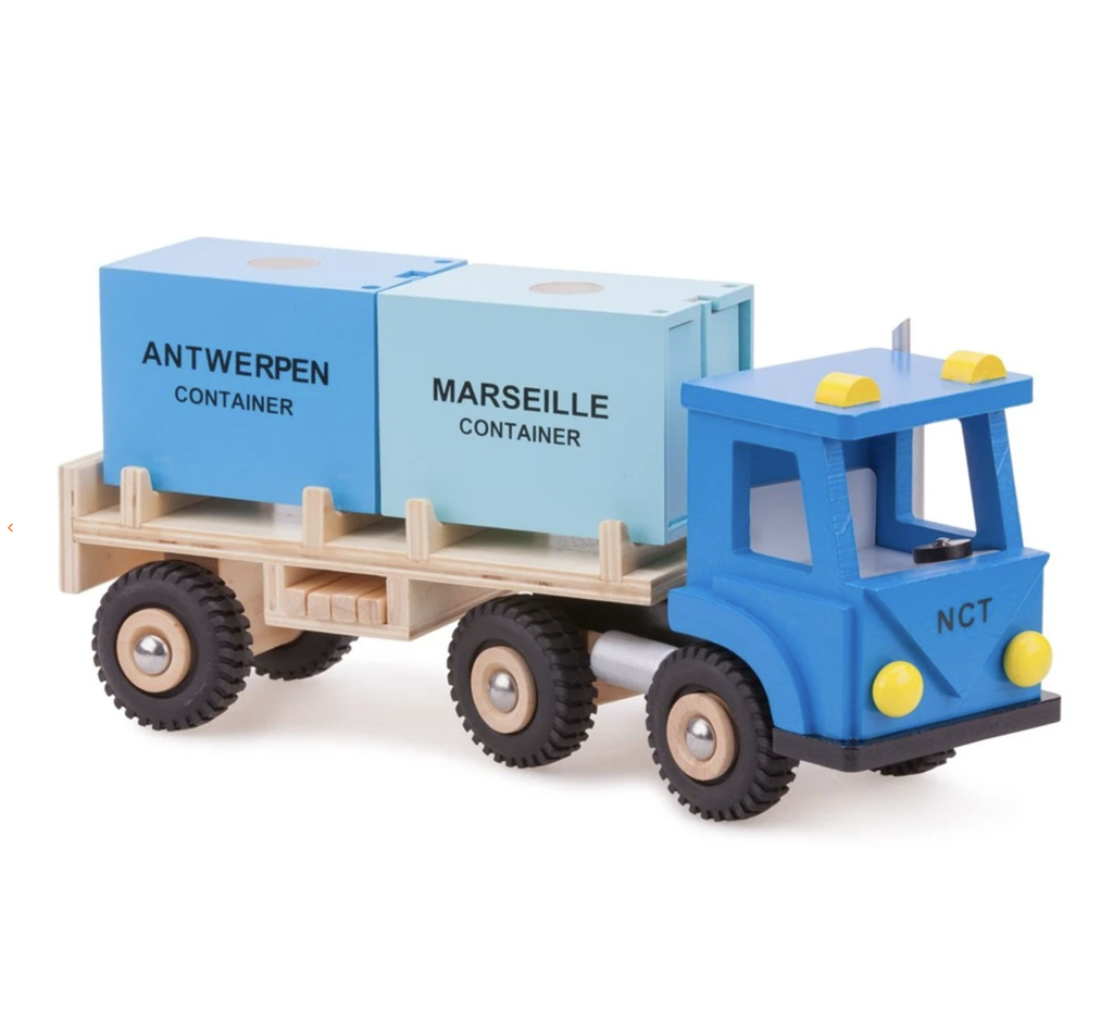 New Classic Toys Timber Container Truck