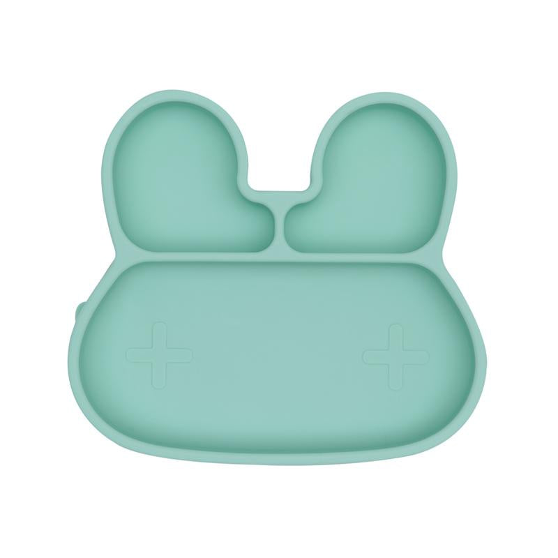 We Might Be Tiny Minty Green Bunny Stickie Plate