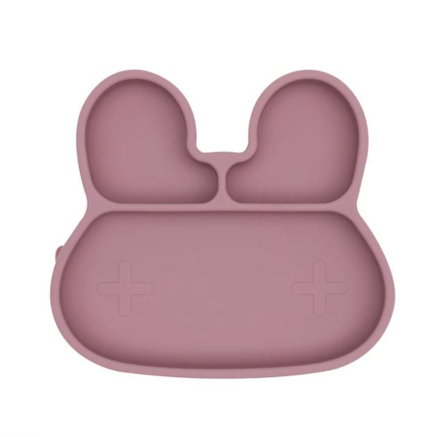 We Might Be Tiny Dusty Rose Bunny Stickie Plate